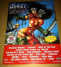 HEAVY METAL 2000 PROMO POSTER For Movie CD PANTERA Insane Clown Posse BILLY IDOL