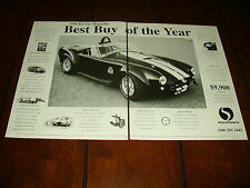 FACTORY FIVE COBRA    ***1996 ORIGINAL 2 PAGE AD***