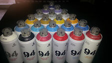 MTN 94 MTN94 MONTANA MTN COLORS 400ML SPRAY PAINT 24 PACK $180 FREE SHIP!
