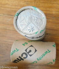 2001 CENTENARY OF FEDERATION UNC 20c Security Roll 20 Coins ( ACT ) VERY SCARCE