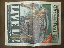 VINTAGE NEWSPAPER DAILY MAIL JULY 3rd 2005 LIVE 8 SOUVENIR EDITION