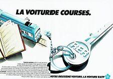 PUBLICITE ADVERTISING 027  1978  RATP  (2p)  Rer la voiture de courses