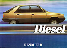 Renault 11 GTD Diesel 1984 UK Market Launch Leaflet Sales Brochure