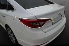 Real Chrome Rear Tail Light Lamp Cover Molding Trim for Hyundai Sonata 15-16