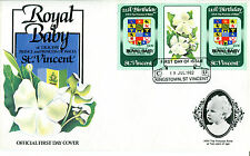 St VINCENT 1982 BIRTH OF PRINCE WILLIAM 60c GUTTER PAIR FIRST DAY COVER (a)
