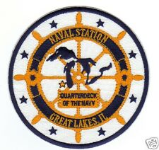 US NAVY BASE PATCH, NAVAL STATION, GREAT LAKES, QUARTERDECK OF THE NAVY      Y