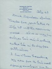 WW2 D-Day Pegasus Bridge commando Lord Lovat very rare signed letter