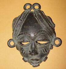 Africa Baule Bronze Cast Passport Mask Pendant Ivory Coast African Dogon Masque