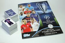 2015-16 TOPPS CHAMPIONS LEAGUE ALBUM + COMPLETE SET OF 619 STICKERS