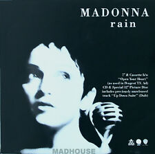 MADONNA Rain UK POSTER DISPLAY Flat  Promo Rare In-Store Only Mint