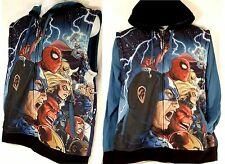 MARVEL Mad Engine Avengers Vs X-Men Removable Sleeve Fleece Hoodie (L) - NWT