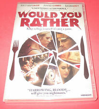 IFC's WOULD YOU RATHER - Rare,  DVD, 2013 Horror BRITTANY SNOW FAST SHIP!