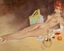 FRITZ WILLIS 8X10 PIN-UP GIRL ART PRINT 1682