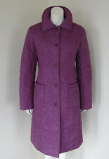 PHILOSOPHY DI ALBERTA FERRETTI Purple Quilted Coat Made In Italy Size 10