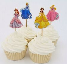 24pcs Cinderella Princess Cupcake Cake Topper Decoration Kids Birthday Party