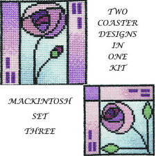 Derwentwater Designs Mackintosh Coasters 3 Cross Stitch Kit
