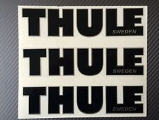 Thule decal, sticker, Thule emblem for repairing, or other use, Black and white