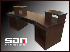 Recording Studio Desk (African Mahogany Finish)