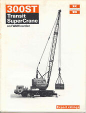 RB 300ST Transit SuperCrane on FAUN carrier export rating sales book