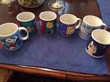 Assorted Lot Of Snoopy Peanuts Mugs Schroder Joe Cool Applause Sakura Willitts