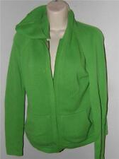 lilly pulitzer green hooded kangoroo pocket zip cotton sweater top size xs