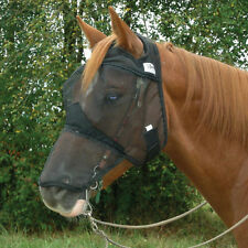 CASHEL FLY MASK STANDARD HORSE QUIET RIDE LONG COVERS NOSE FOR TRAIL RIDING
