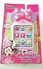 Disney Junior Minnie Mouse Toy Cell Phone with Realistic Lights & Sounds New