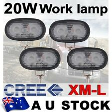 4X 20W CREE LED FLOOD WORK LIGHT OFFROAD 4WD JEEP TRUCK DRIVING LAMP AU SHIP