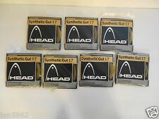 7 x NEW HEAD SYNTHETIC GUT 17G TENNIS STRING SETS 40FT / 12.2 M