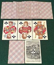 ANTIQUE c1880  VEREINIGTE SPIELKARTENFABRIKEN VASS Square Corner PLAYING CARDS