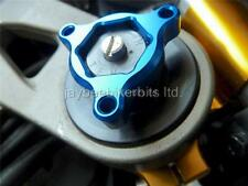 FORK PRE LOAD FORK ADJUSTERS 17MM BLUE Triumph Daytona 675R 2011-2012 NEW R1C10