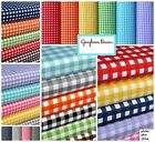 "Gingham 1/4 Checkered Poly Cotton Fabric Prints - 59/60"" Wide - Sold By The Yard"