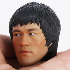 Custom Bruce Lee 1/6 Head Sculpt for Hot Toys Enterbay Body Game of Death