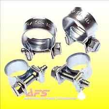 10 x 10mm -12mm JUBILEE Nut & Bolt Mini Fuel Pipe Hose Clip Tubing Clamp EU Nano