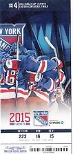 2015 NEW YORK RANGERS VS TAMPA BAY LIGHTNING PLAYOFFS TICKET STUB GAME #7 CUP