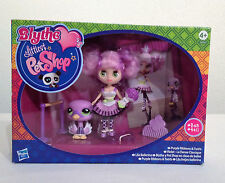 Littlest Pet Shop LPS -PURPLE RIBBONS & TWIRLS- Blythe doll B43 & Swan #2411 NIB