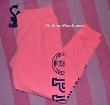 Victoria's Secret Pink Skinny Collegiate Sweat Pants Fashion Show XSMALL XS Blue