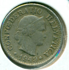 1939-B SWITZERLAND 20 RAPPEN, EXTRA FINE, GREAT PRICE!