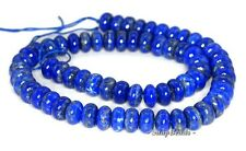 10X6MM AZURA LAPIS LAZULI GEMSTONE AA  BLUE RONDELLE 10X6MM LOOSE BEADS 16""