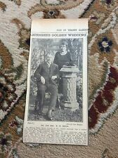 b2-7 ephemera 1930 picture golden wedding w h mount bellevue hotel margate