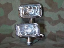 "Chopper, Custom Dual 12 Volt 55W Halogen 6""  Rectangular Headlights and Bracket"