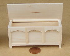 1:12 Scale Natural Finish Blanket Chest Trunk Dolls House Miniature Accessory 22