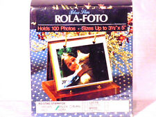 Vintage Blue Plan ROLA-FOTO holds 100 Photos sizes 3 1/2 x 5  Ivory in color
