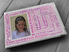 """Personalised guestbook photo album 36 x 6x4"""" 16th birthday party present"""
