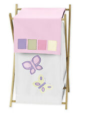 SWEET JOJO DESIGN KID BABY CLOTHES LAUNDRY HAMPER FOR PINK BUTTERFLY BEDDING SET