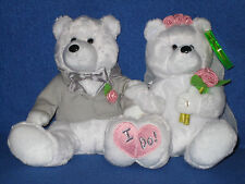TY WE DO the WEDDING BEAR BEANIE BABY DUO - MINT with MINT TAGS