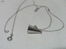 Sterling silver Chain and Mega Phone Charm