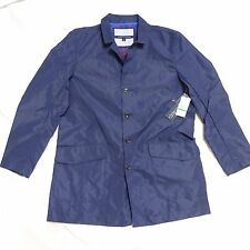 NEW TOMMY HILFIGER BOSTON PACKABLE NAVY BLUE PEACOAT RAINCOAT L LARGE