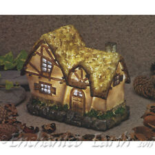 NEW SOLAR LED FAIRY HOUSE/The COTTAGE /LED LIGHT /FAIRY GARDEN HOUSE -16cm Tall