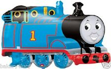 "NEW THOMAS THE TRAIN SHAPE MYLAR FOIL BALLOON BOY BIRTHDAY PARTY 30"" XL"